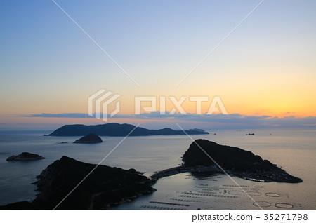 图库照片: 卡斯瓦吉马岛 暮色 岛