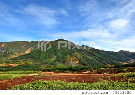 图库照片: 北海道 风景 朝日山
