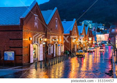 """日本风景 北海道 函馆 照片 """"北海道""""函馆夜景,红砖仓库 首页 照片"""