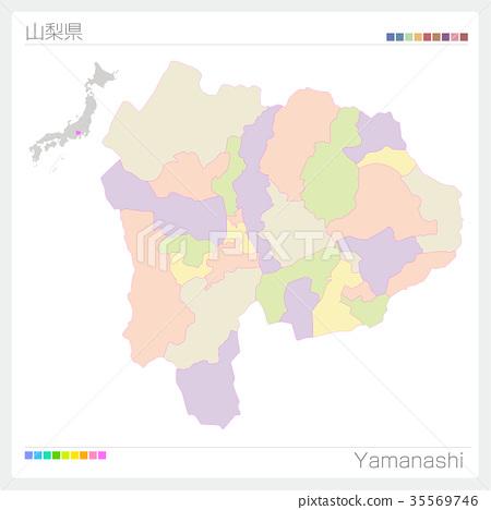 首页 插图 人物 男女 日本人 山梨县地图(城市/城市/颜色编码)