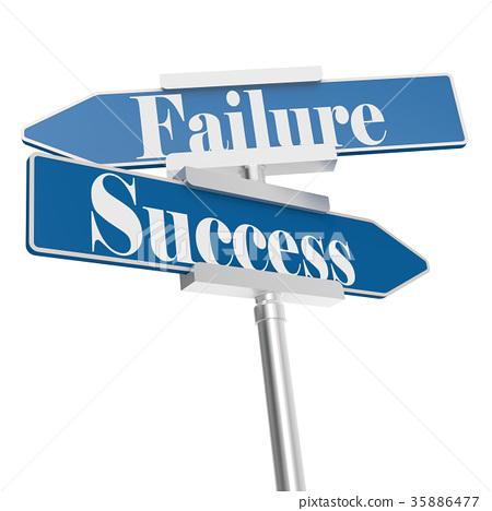 图库插图: success or failure signs