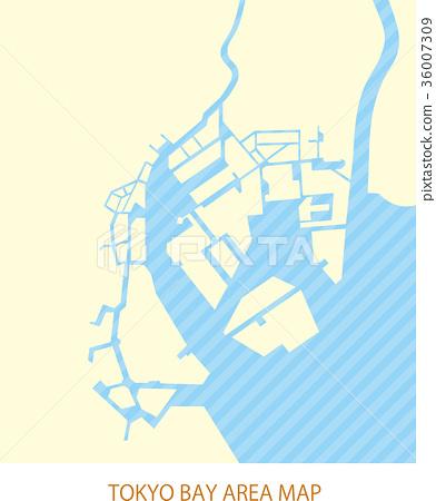 图库插图: 东京湾地区地图