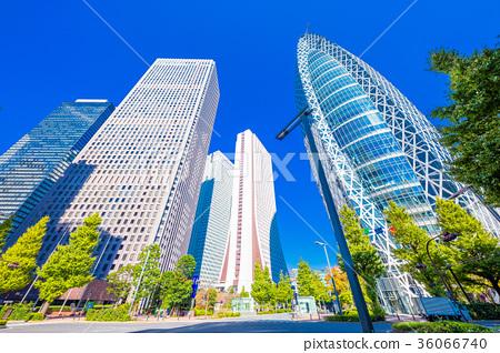 图库照片: 东京新宿大厦街的风景