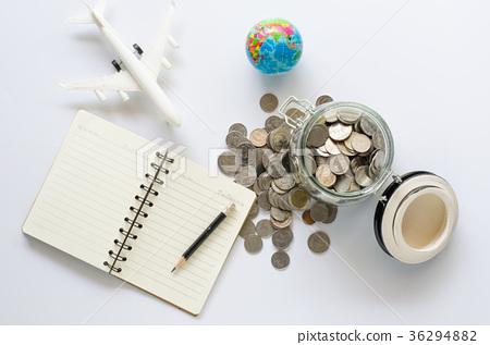 图库照片: saving money for tourism