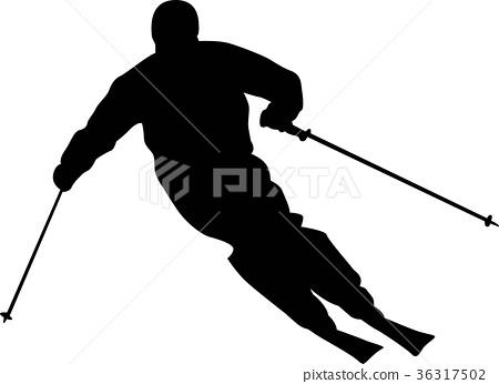 图库插图: 滑雪 冬季运动 运动