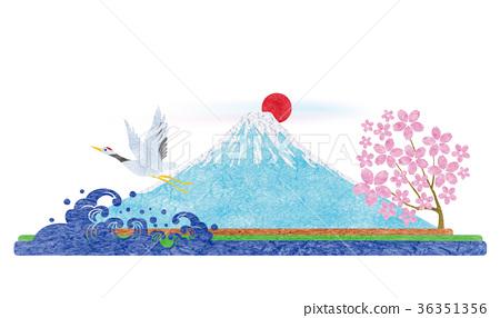 首页 插图 植物_花 樱花 樱花 富士山 樱花 樱桃树  *pixta限定素材仅