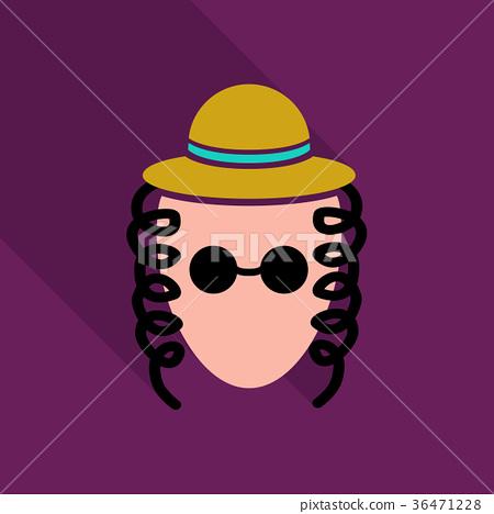图库插图: jew with paces and hat