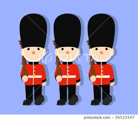 图库插图: 英国卫兵玩具士兵矢量03