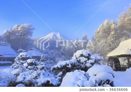 图库照片: 富士山 雪景 风景