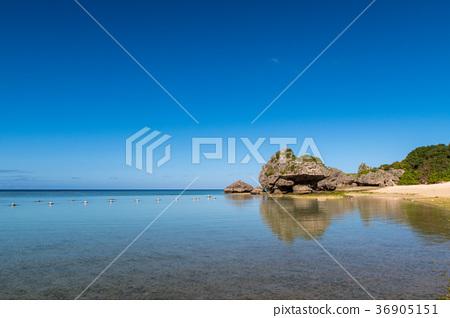 图库照片: 阳光明媚的早晨在尼古拉海滩