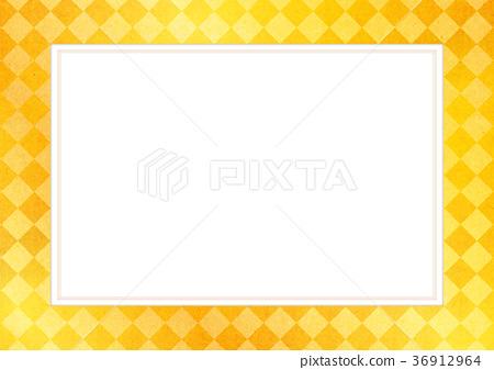 背景_小物 小物 框架 框架 打钩 棋盘状图案 框架  *pixta限定素材仅