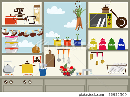 厨房的形象.插图素材.