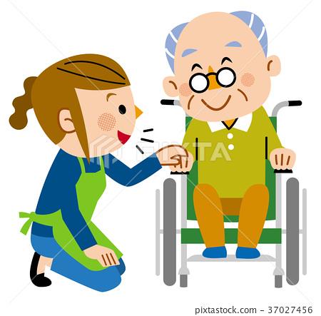 首页 插图 人物 男女 老年人 护理 家庭护理 看护  *pixta限定素材仅