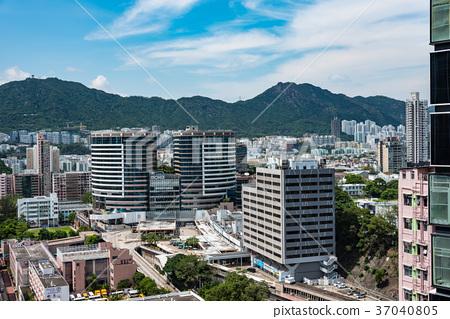 图库照片: 香港摩天大楼都市风景