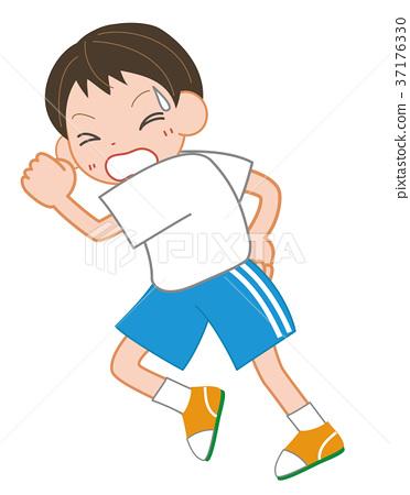 儿童 孩子 小朋友 首页 插图 姿势_表情_动作 行为_动作 跑步 儿童