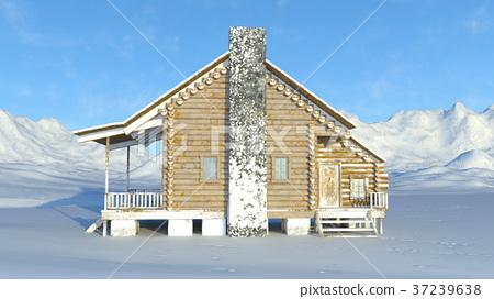 图库插图: 山野中的小木屋 小屋 山庄