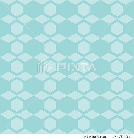 图库插图: hexagon shape repeating seamless pattern design图片