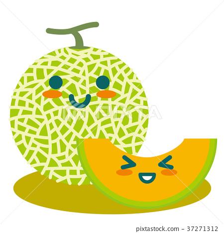 图库插图: 甜瓜 哈密瓜 水果图片