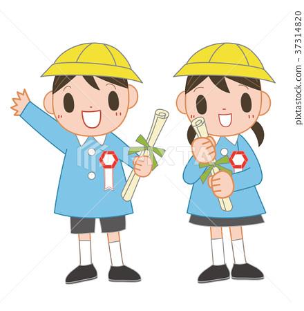 图库插图: 幼儿园儿童 微笑 笑脸