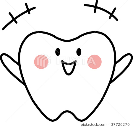 牙齿简笔画步骤画法
