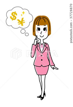 图库插图: 女企业家 女性白领 女商人图片