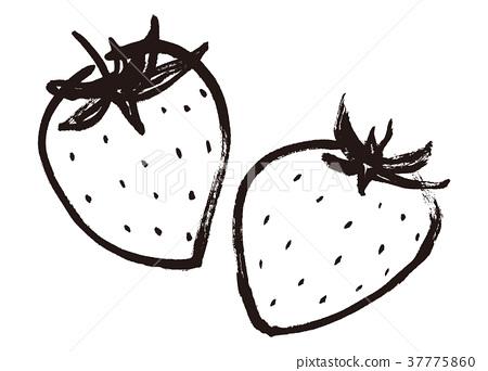 首页 插图 蔬菜_食品 水果 草莓 草莓 水果 毛笔绘画  *pixta限定素材