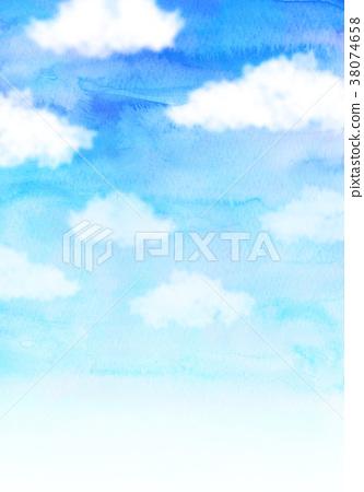 天空 蓝天 插图 蓝天 水彩画 背景素材 首页 插图 天空 蓝天 蓝天