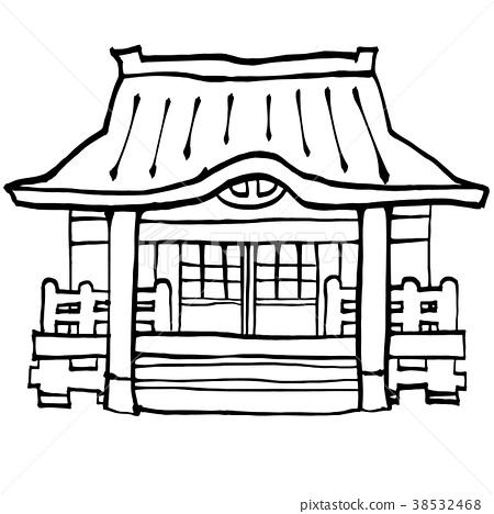 设施_建筑_街道 建筑 寺庙 插图 庙宇 寺院 神殿 首页 插图 设施_建筑