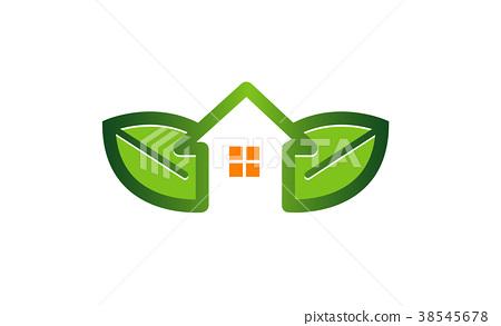 图库插图: green house logo symbol design illustration图片