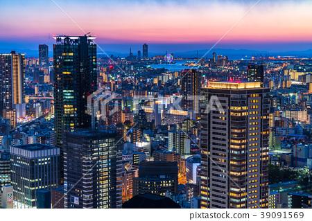 照片 日本风景 大阪 梅田 大阪 城市景观 城市风光  *pixta限定素材仅