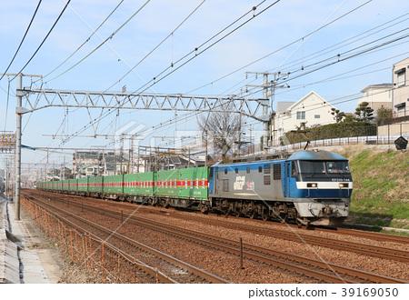 图库照片: 电机 货运列车 东海道本线