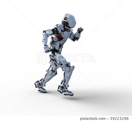图库插图: 人形机器人perming3dcg插图素材
