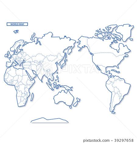 图库插图: 世界地图 地图 世界