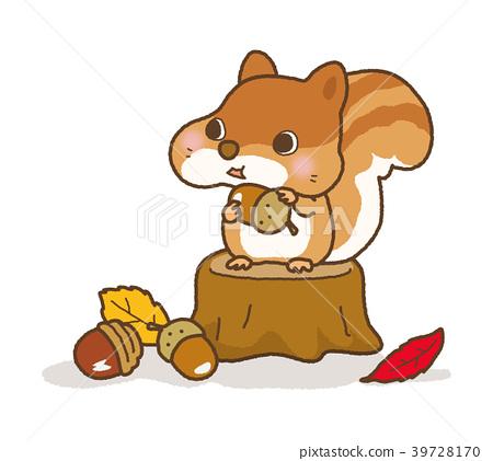 插图 松鼠 秋天 秋 首页 插图 动物_鸟儿 宠物_小动物 松鼠 松鼠 秋天