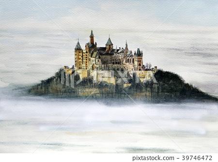 图库插图: 水彩 水彩画 世界遗产