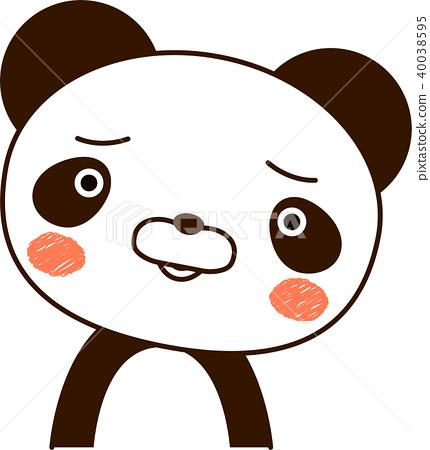 图库插图: 熊猫例证逗人喜爱的表情麻烦图片