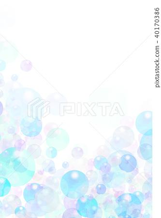 插图素材: 水彩泡沫纹理