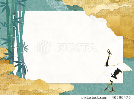 首页 插图 动物_鸟儿 鸟儿 鹤 鹤 日本风格 日式风格  *pixta限定素材