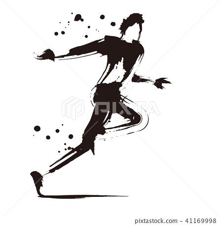 图库插图: 冲刺(奔跑) 运动员 短跑选手图片