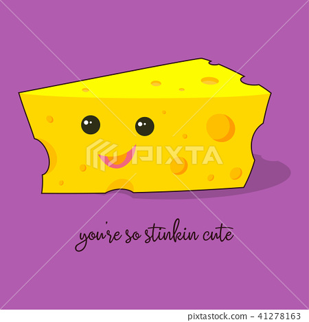 插图素材: cartoon cute cheese