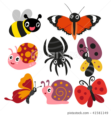 图库插图: insect character design图片