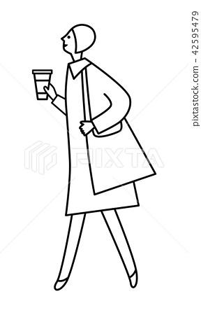 插图素材: 走路的女人 查看全部