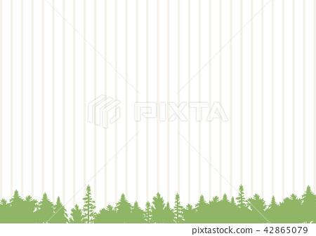 插图素材: 森林条纹背景