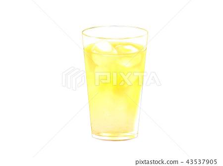 插图素材: 苹果汁