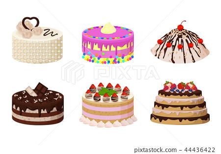 插图素材: sweet bakery collection poster vector illustration