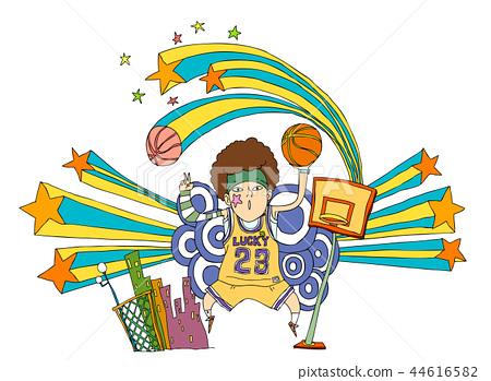 插图素材: 篮球 竞争 概念
