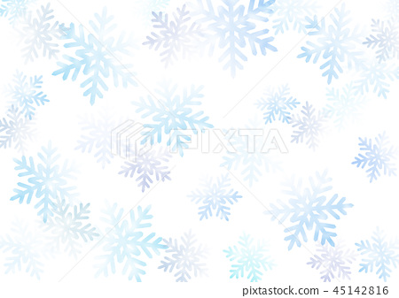 插图素材: 水彩画 积雪 下雪