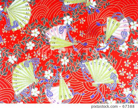 扇形图案日本纸 67388