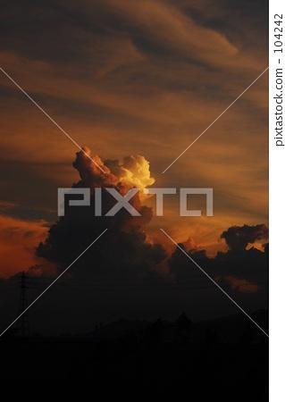日落雲層雲 104242