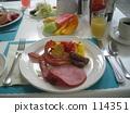 breakfast, ham, omelette 114351